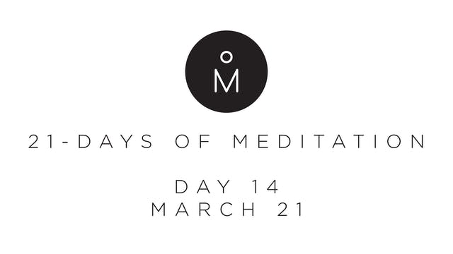 21-Day Meditation - Day 14