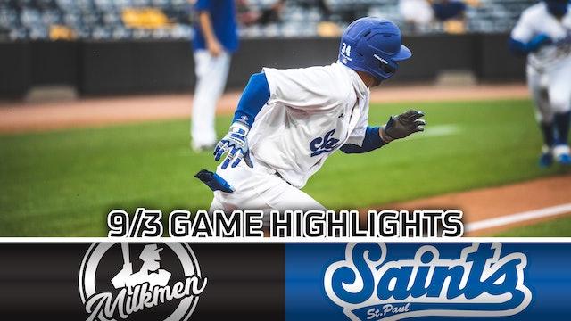 GAME HIGHLIGHTS: 9/3/20 VS Milwaukee Milkmen
