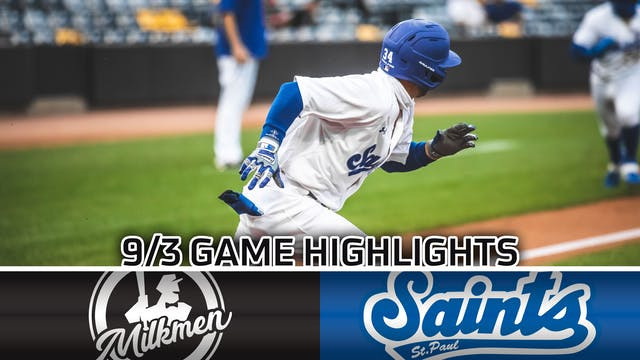 GAME HIGHLIGHTS: 9/3/20 VS Milwaukee ...