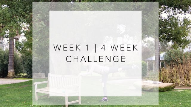 WEEK 1 | 4 Week Barre Body Challenge