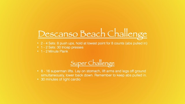Descanso Beach Challenge