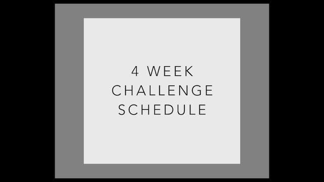 4 Week Challenge Workout Schedule