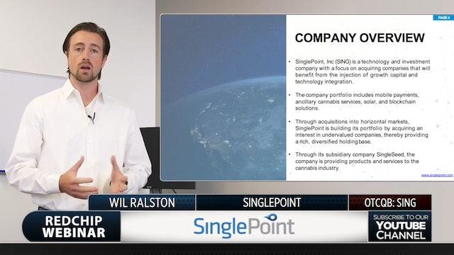 SinglePoint (OTCQB: SING)
