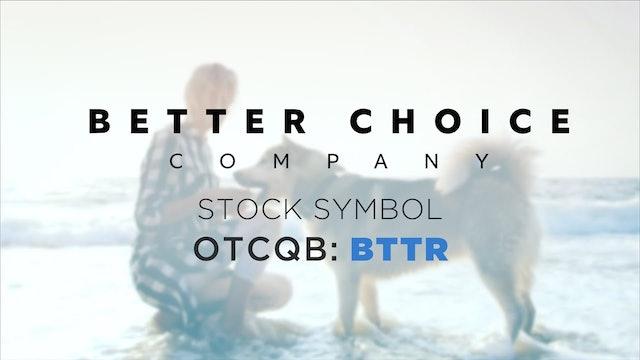 Better Choice Company (OTCQB: BTTR)