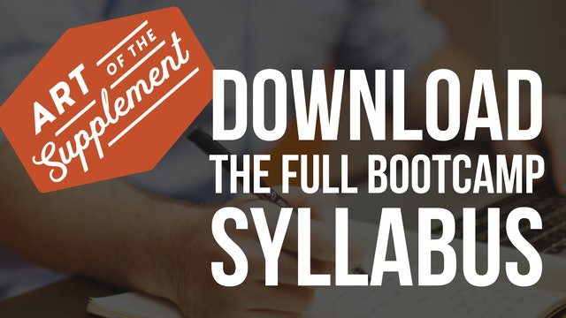 Bootcamp Syllabus