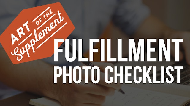 Photo Checklist