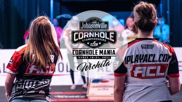 2021 Cornhole Mania Pro Women's Doubles Feature Court