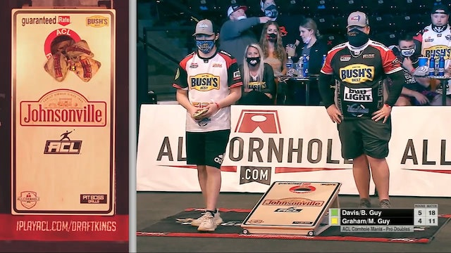 2021 Cornhole Mania Guy-Davis Doubles Win