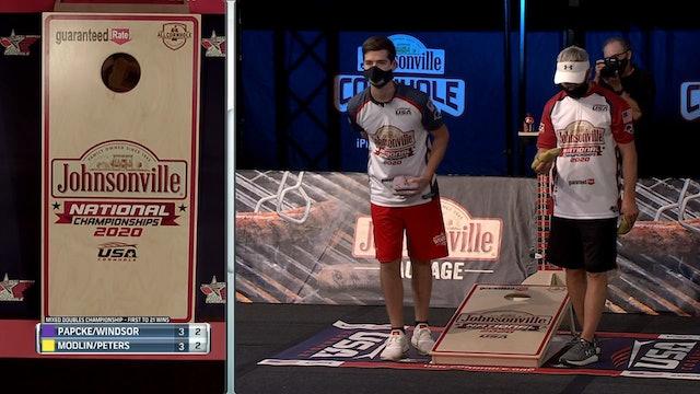 2020 USA Cornhole Championships Modlin-Peters vs. Windsor-Papcke