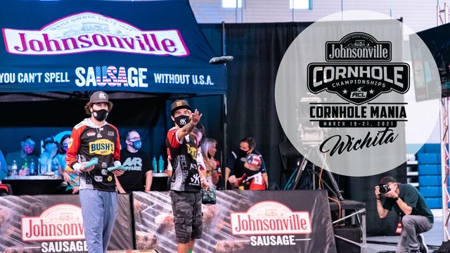2021 Cornhole Mania Pro Doubles Feature Court