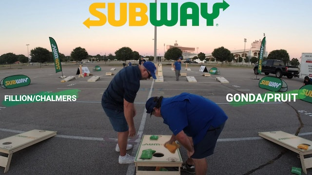 Subway College Cornhole Tour Week 1