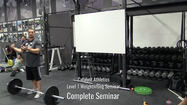 Level 1 Weightlifting Seminar with Greg Everett