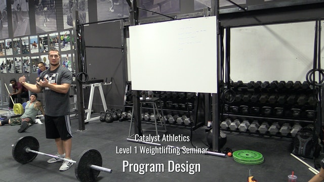 Level 1 Weightlifting Seminar Part 5: Program Design