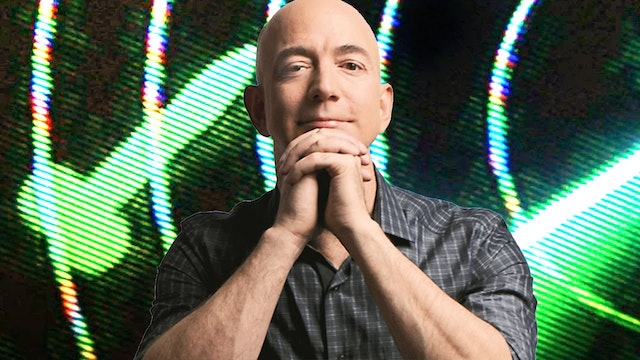 IDIOT JEFF BEZOS BLASTING OFF TO SPACE