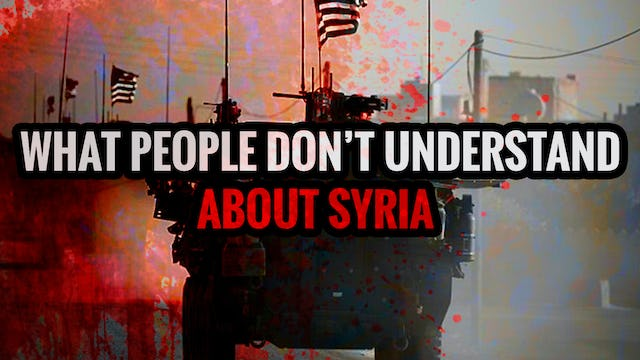 What People don't Understand about Syria