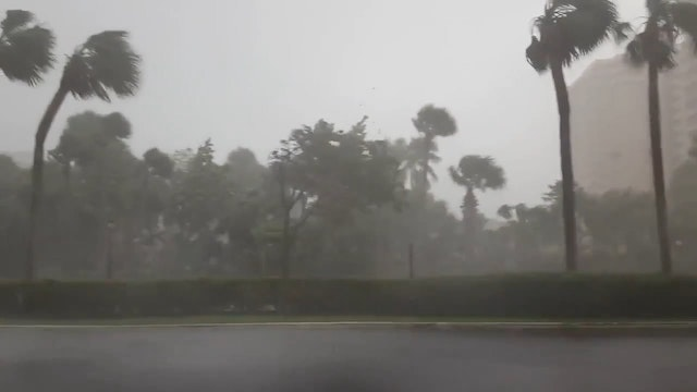 Hurricane Force Winds Strike South Fl...