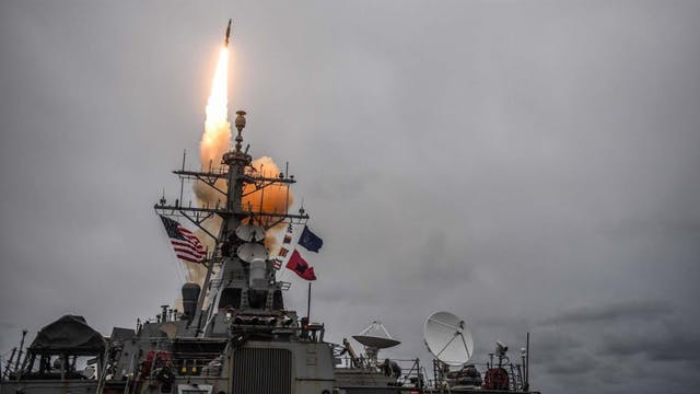 U.S. NAVY DESTROYER ARRIVES OFF COAST...