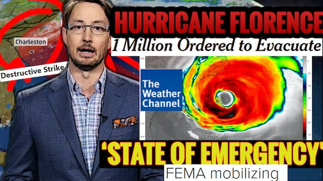 HURRICANE FLORENCE COULD BE WORST IN HISTORY! BIBLICAL FLOODING