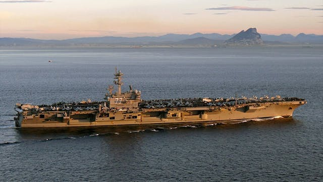 U.S. WARSHIP ATTACKED BY IRAN IN STRA...