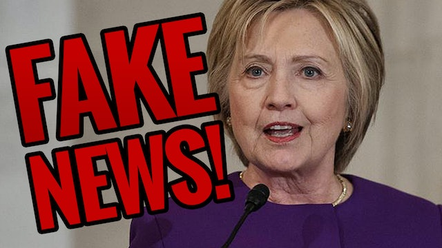 Hillary Blames Fake News After Epic Loss