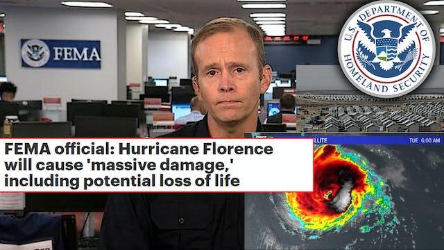 FLORENCE: MILLIONS FLEE CAROLINA COASTLINE, FEMA PREPARES CAMPS
