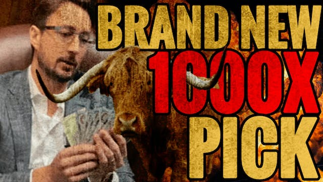 BITCOIN BULL MARKET!!! I REVEAL BRAND NEW 1000X PICK!!
