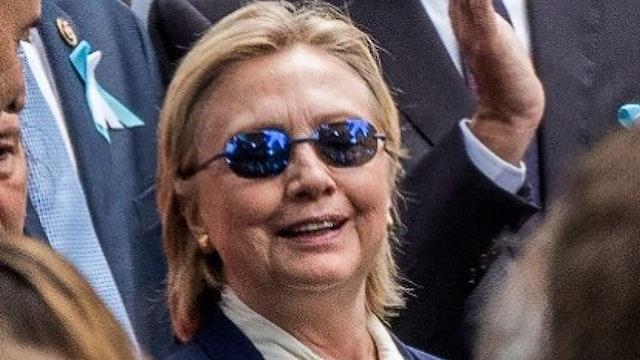 Hillary STUMBLES into Van on 9/11 Ann...