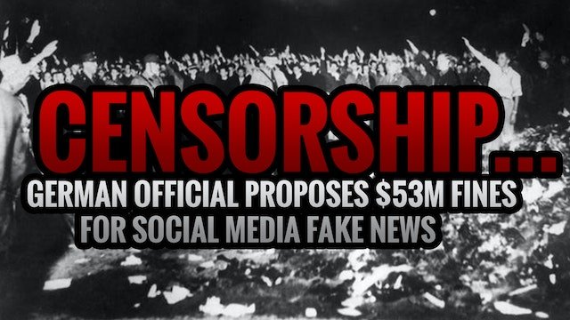 CENSORSHIP...GERMAN OFFICIAL PROPOSES...