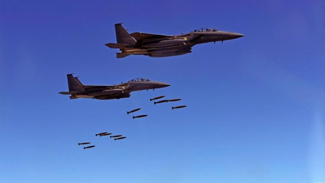 US JETS DROP BOMBS NEAR N.KOREA