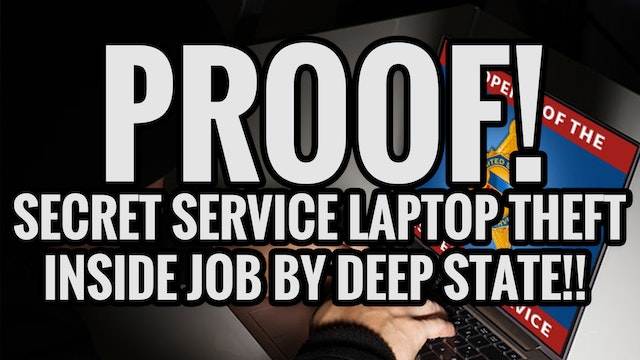 PROOF! SECRET SERVICE LAPTOP THEFT IN...