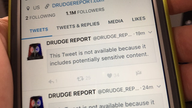 TWITTER CENSORING @Drudge_Report and ...