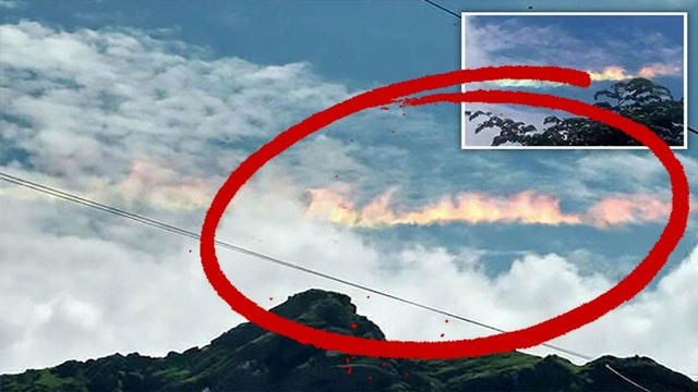 APOCALYPTIC FIRE RAINBOW IN PERU RAIS...