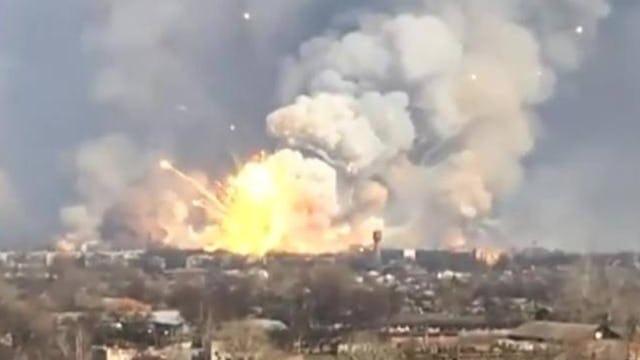 UKRAINIAN AMMO DEPOT EXPLODES CONVENIENTLY