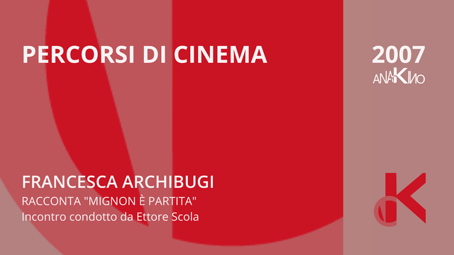 """Francesca Archibugi racconta """"Mignon è partita"""" - Percorsi di Cinema 2007"""