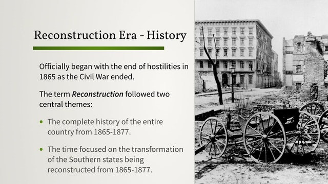 The Reconstruction Era: Background