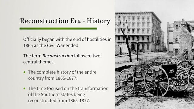 The Reconstruction Era: Background