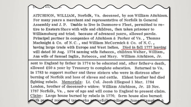 Loyalist Ancestors