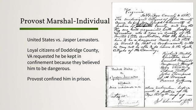 Union Provost Marshal Files: An Overview