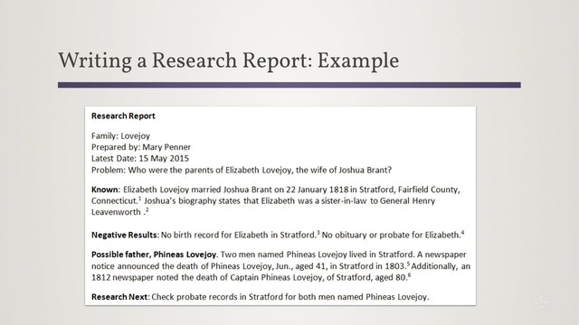 Preserve Your Research in Writing: Research Report