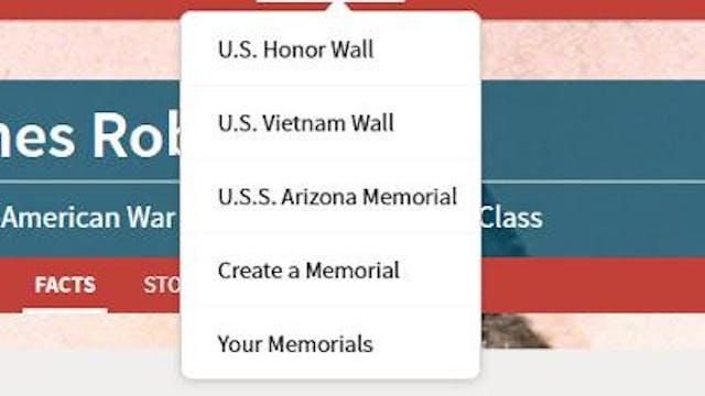 Finding Your Memorials