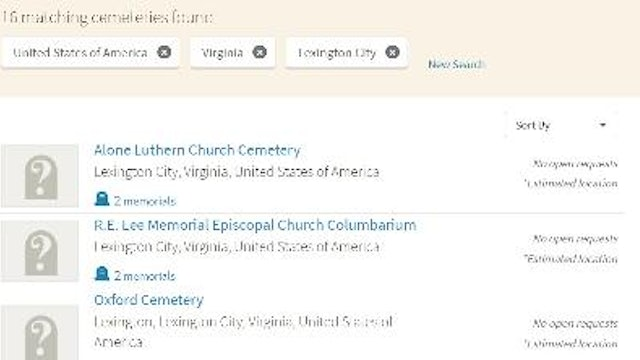 How To Create a List of Cemeteries in a Specific Location