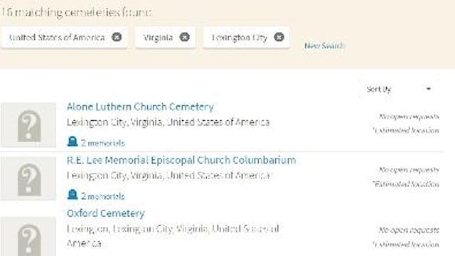 How To Create a List of Cemeteries in...