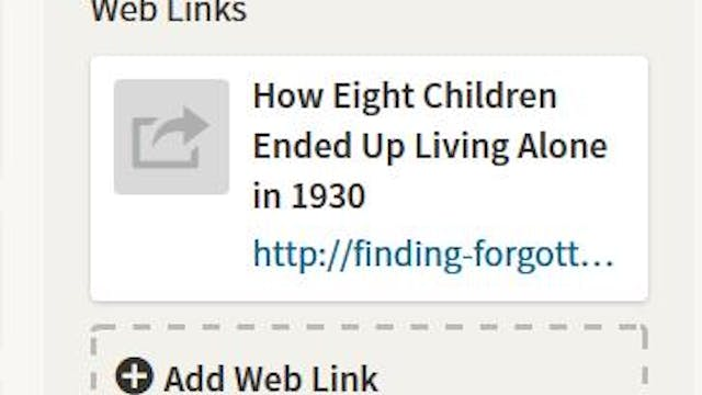Adding A Web Link To Your Facts Page