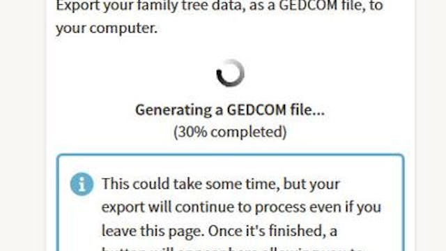 How To Create and Download a GEDCOM