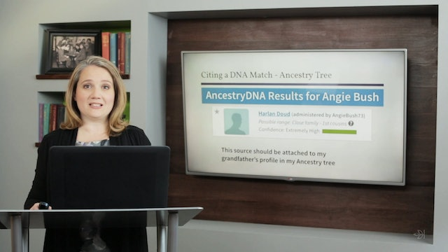 Citing DNA Results Within Your Ancestry Family Tree