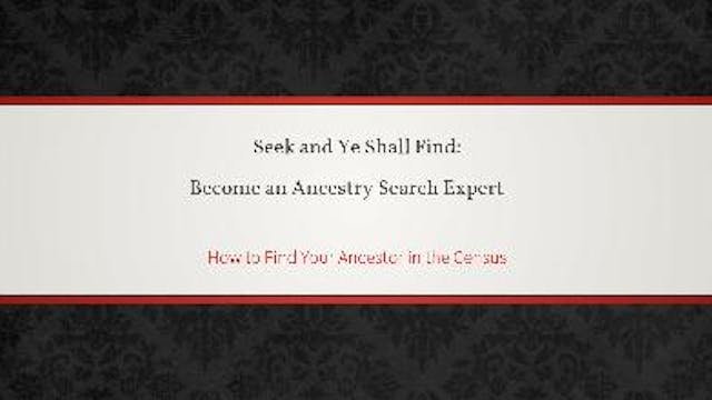 How To Find Your Ancestor in the U.S....