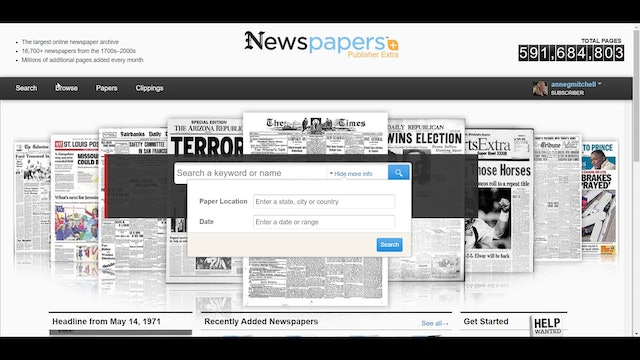 How To Do A Basic Search on Newspapers.com