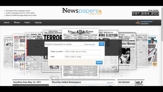 How To Do A Basic Search on Newspaper...
