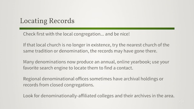 How to Find More Church Records