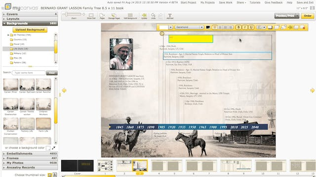 How to use the editing tools in MyCanvas